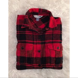 🍁 Old Navy   Thick Red & Black Flannel 🍁